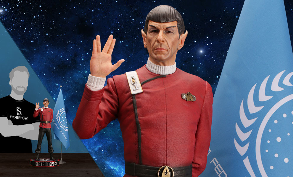 Gallery Feature Image of Leonard Nimoy as Captain Spock Statue - Click to open image gallery