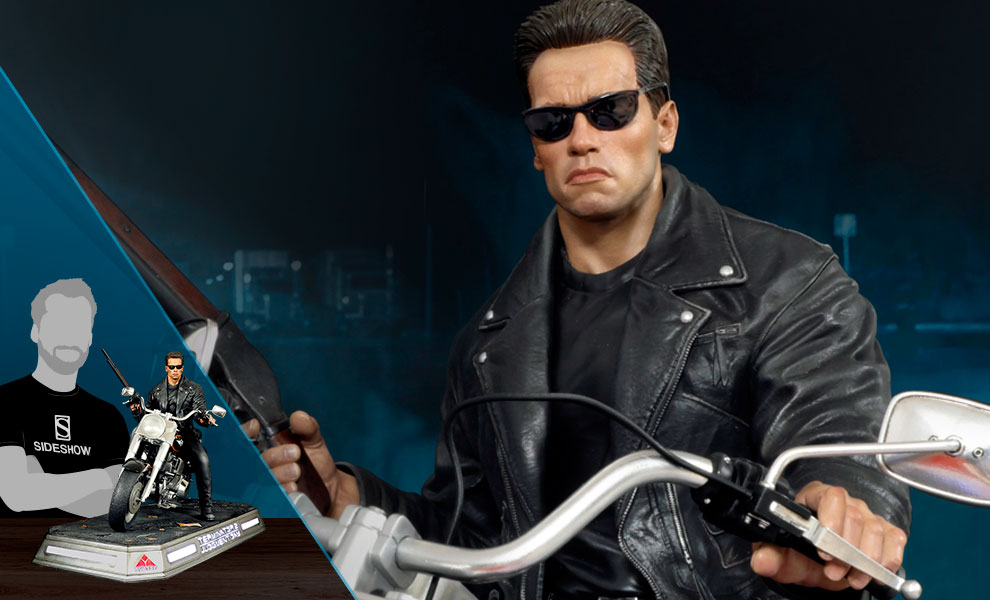 Gallery Feature Image of T-800 on Motorcycle Statue - Click to open image gallery