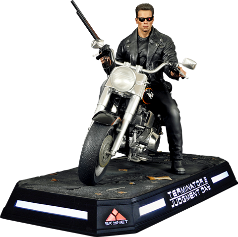 DarkSide Collectibles Studio T-800 on Motorcycle Statue