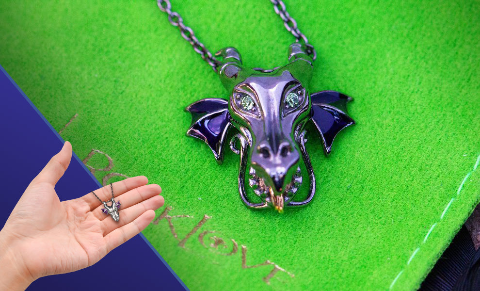 Gallery Feature Image of Maleficent Dragon Pendant Jewelry - Click to open image gallery