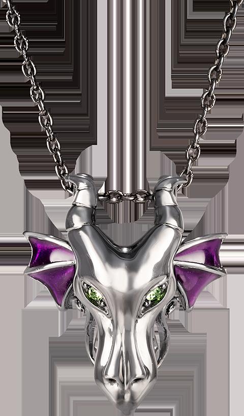 RockLove Maleficent Dragon Pendant Jewelry