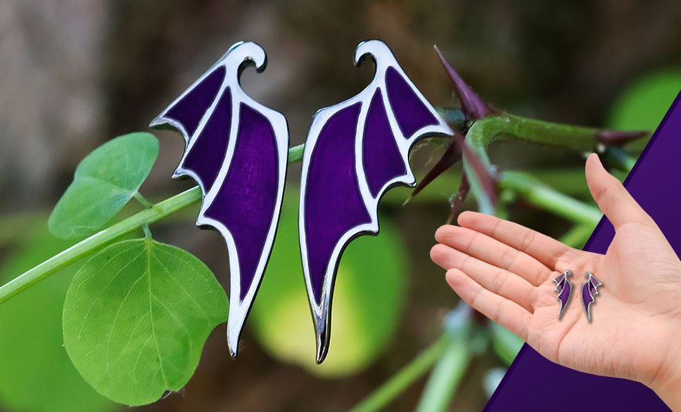 Gallery Feature Image of Maleficent Dragon Wing Earrings Jewelry - Click to open image gallery