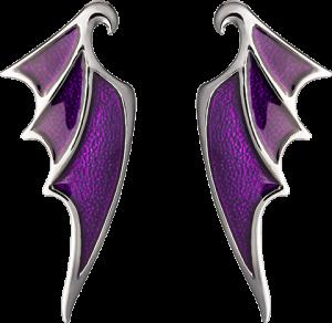 Maleficent Dragon Wing Earrings Jewelry