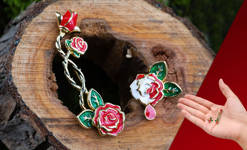 Gallery Feature Image of Painting the Roses Ear Climber and Stud Jewelry - Click to open image gallery