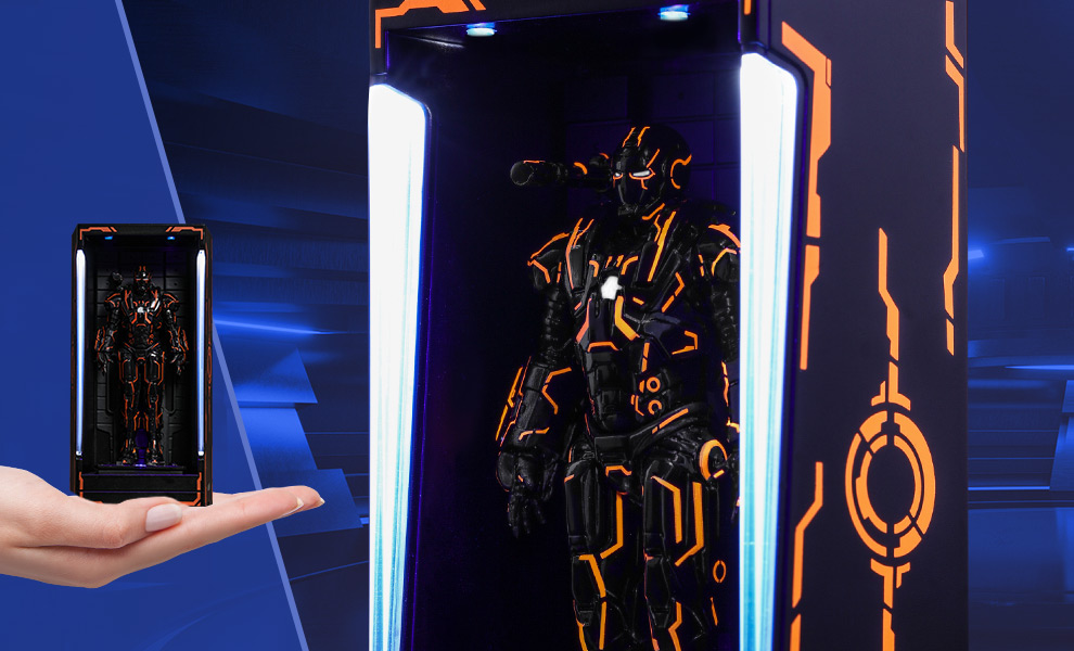 Gallery Feature Image of Neon Tech War Machine Hall of Armor Diorama - Click to open image gallery