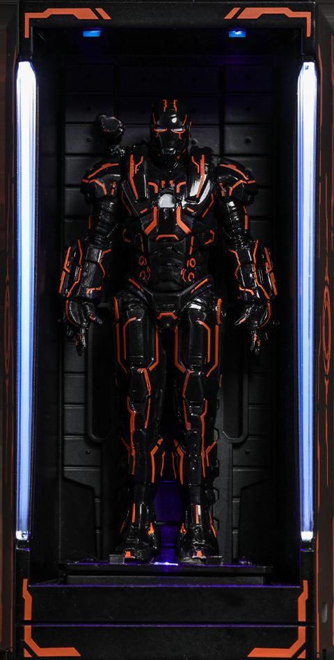 Hot Toys Neon Tech War Machine Hall of Armor Diorama