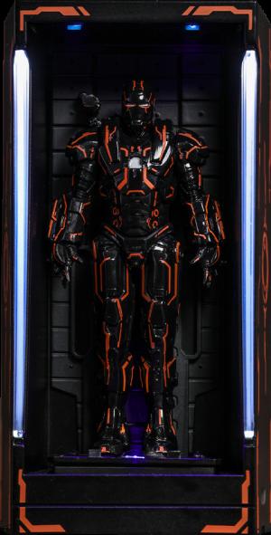 Neon Tech War Machine Hall of Armor Diorama