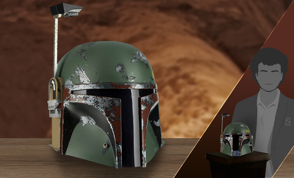 Gallery Feature Image of Boba Fett Precision Crafted Helmet Replica - Click to open image gallery