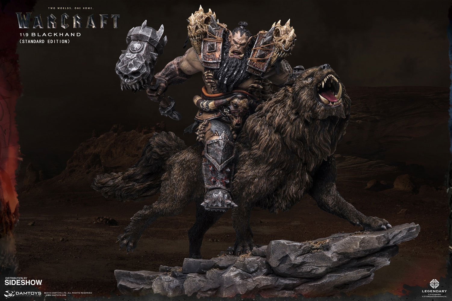 Blackhand Riding Wolf Statue By Damtoys Sideshow Collectibles