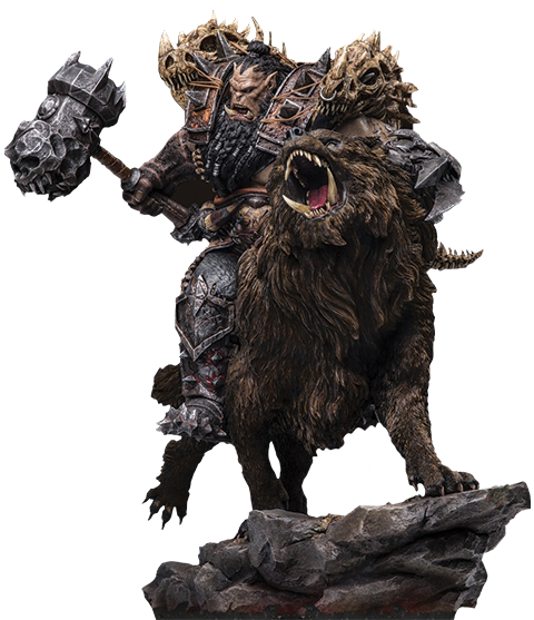 Damtoys Blackhand Riding Wolf (Standard Version) Statue