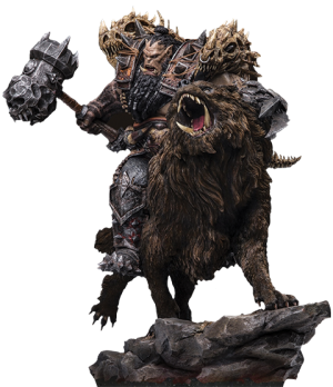 Blackhand Riding Wolf (Standard Version) Statue