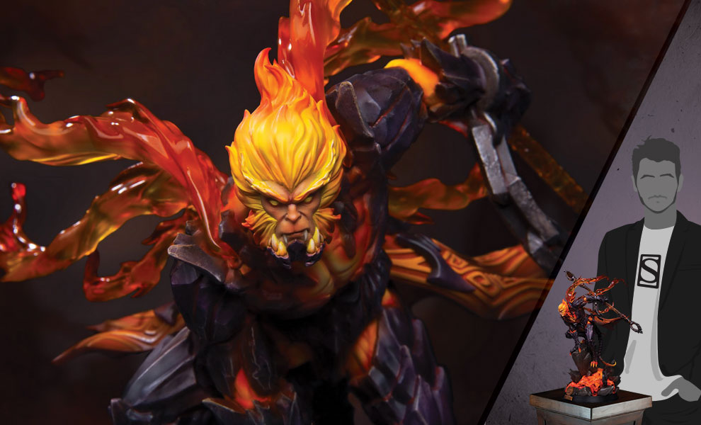 Gallery Feature Image of Hellfire Sun Wukong (Classic Version) Statue - Click to open image gallery