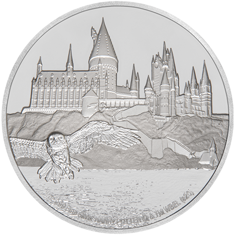 New Zealand Mint Hogwarts Castle Silver Coin Silver Collectible