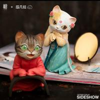 Gallery Image of Red String Cat Figurine