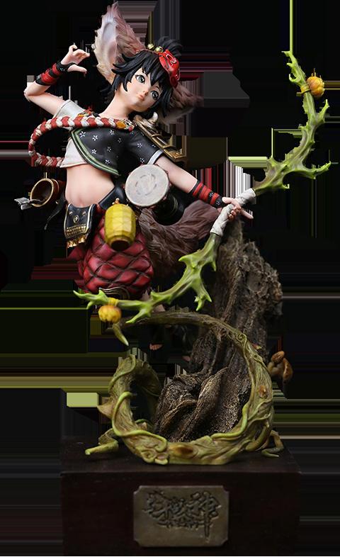 Manas SUM Jade Fox Statue