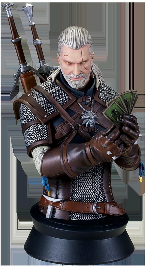 Dark Horse Comics Geralt Playing Gwent Bust