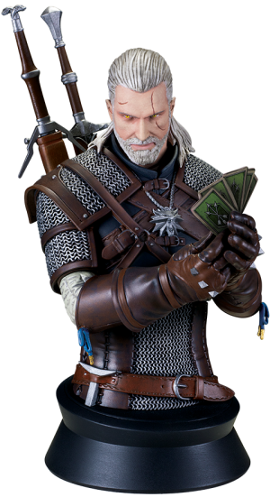 Geralt Playing Gwent Bust