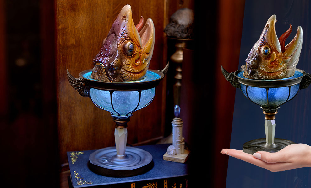 Gallery Feature Image of Lamp of the Great Fish Collectible Lamp - Click to open image gallery
