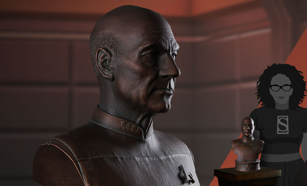 Gallery Feature Image of Captain Jean-Luc Picard Bust - Click to open image gallery