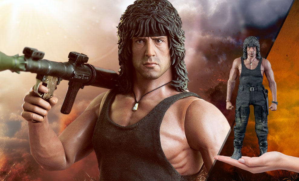 Gallery Feature Image of John Rambo Sixth Scale Figure - Click to open image gallery