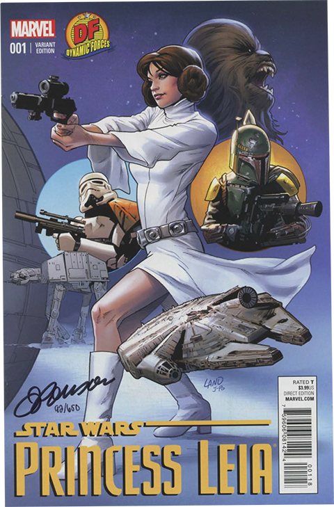 Dynamic Forces Star Wars Princess Leia #1 Book