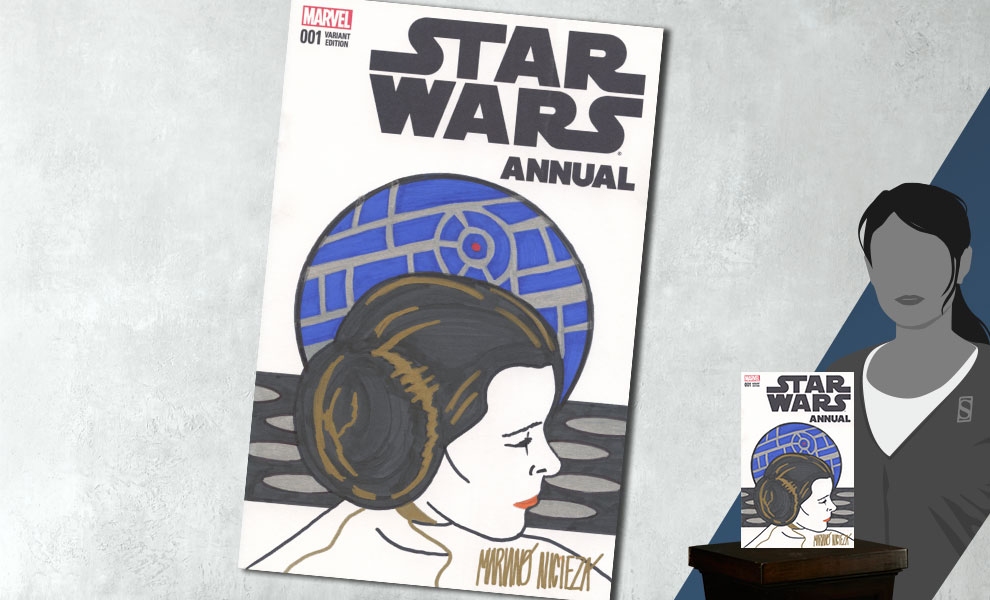 Gallery Feature Image of Star Wars Annual #1 Princess Leia Sketch Cover Book - Click to open image gallery