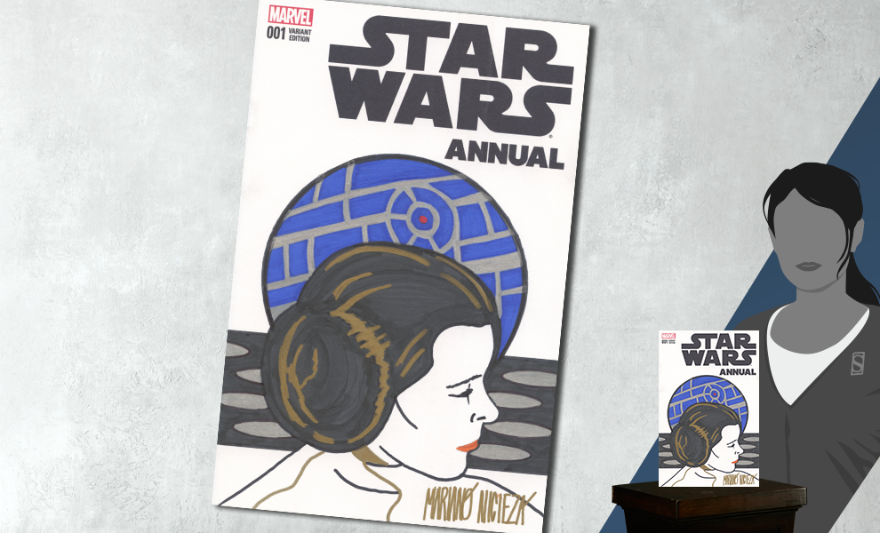 Dynamic Forces Star Wars Annual #1 Princess Leia Sketch Cover Book