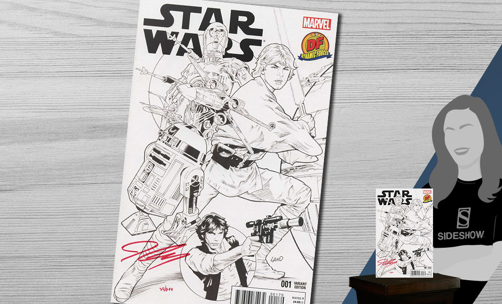 Gallery Feature Image of Star Wars #1 B&W Variant Book - Click to open image gallery