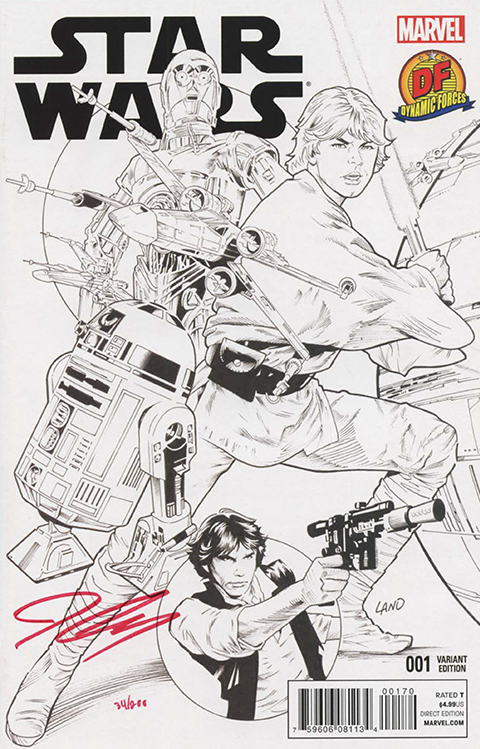 Dynamic Forces Star Wars #1 B&W Variant Book