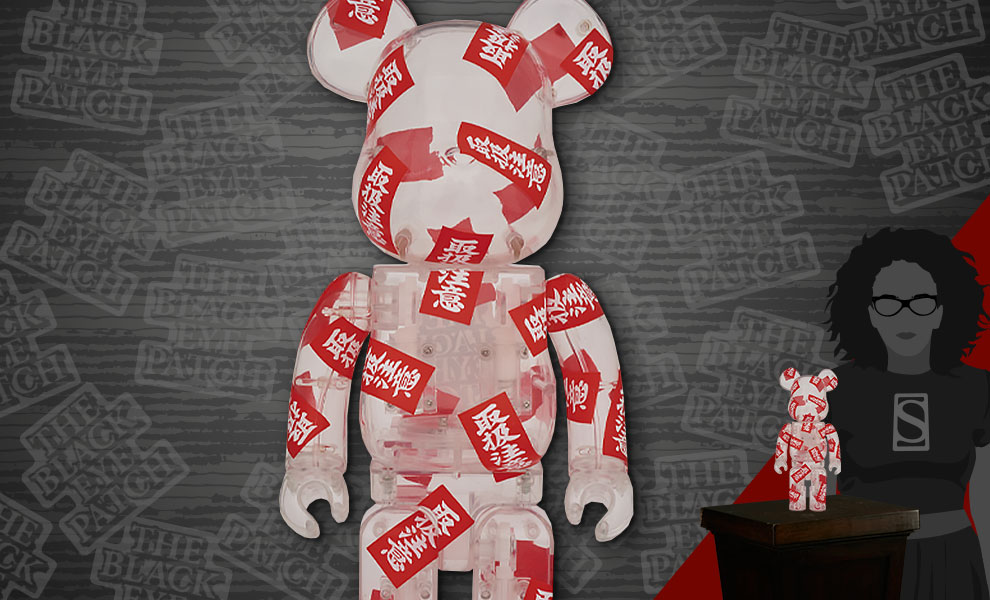 Gallery Feature Image of Be@rbrick BlackEyePatch 400% Figure - Click to open image gallery