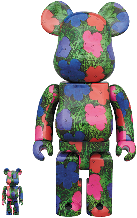 "Medicom Toy Be@rbrick Andy Warhol ""Flowers"" 100% and 400% Collectible Set"
