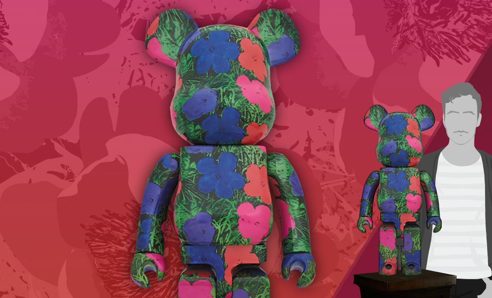 """Gallery Feature Image of Be@rbrick Andy Warhol """"Flowers"""" 1000% Figure - Click to open image gallery"""