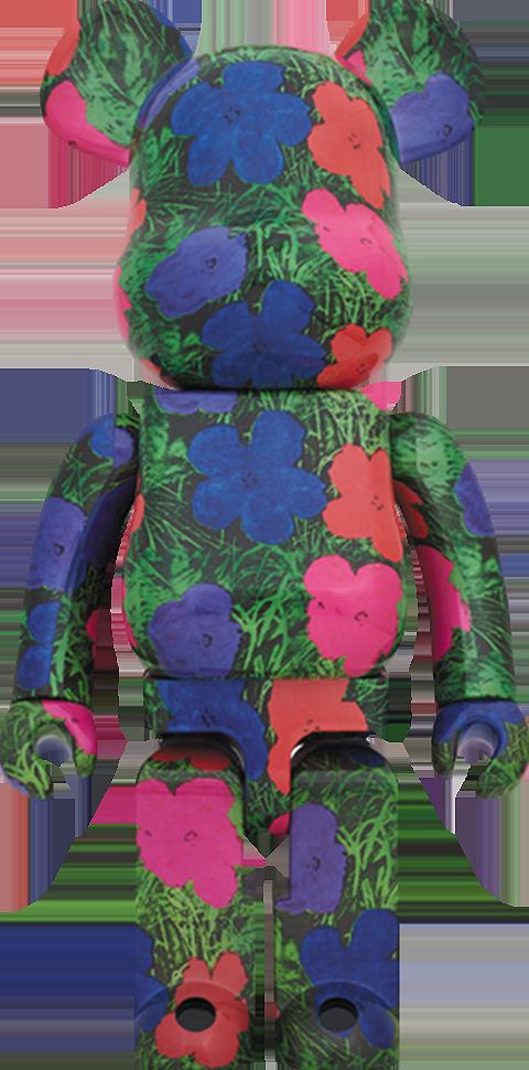 "Medicom Toy Be@rbrick Andy Warhol ""Flowers"" 1000% Figure"