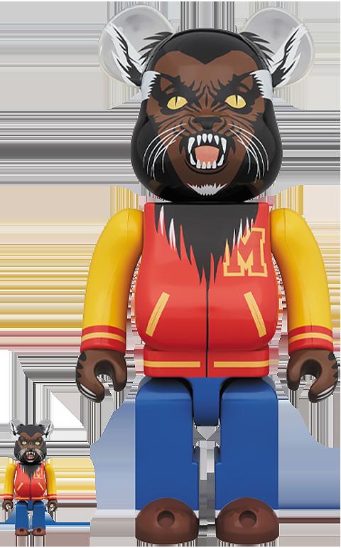 Medicom Toy Be@rbrick Michael Jackson Werewolf 100% & 400% Collectible Set