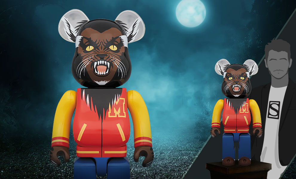 Gallery Feature Image of Be@rbrick Michael Jackson Werewolf 1000% Figure - Click to open image gallery
