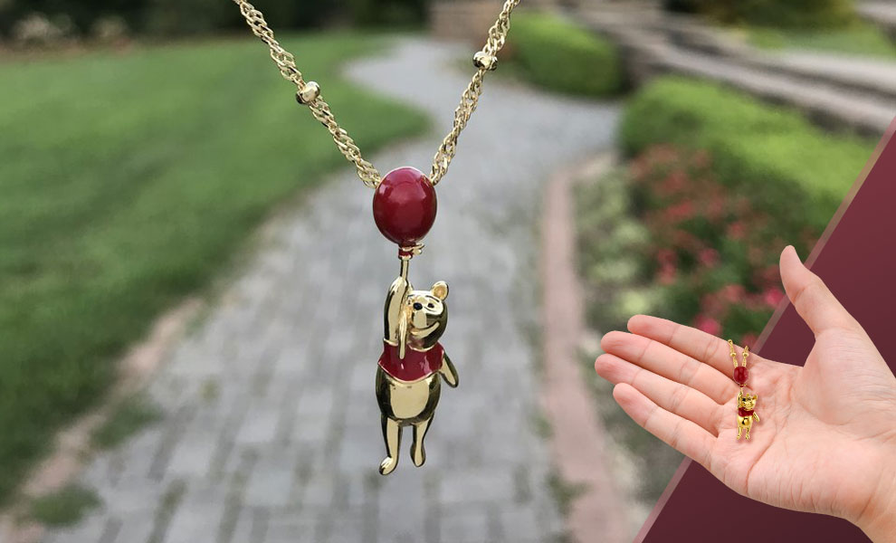Gallery Feature Image of Winnie the Pooh Balloon Necklace Jewelry - Click to open image gallery