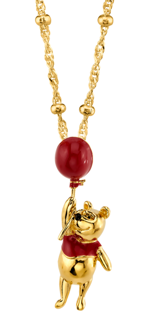 Winnie the Pooh Balloon Necklace Jewelry
