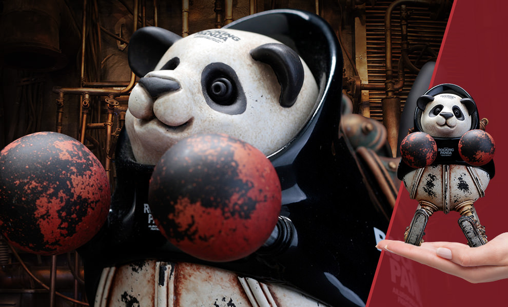 Gallery Feature Image of Rocking Panda (Small) Statue - Click to open image gallery