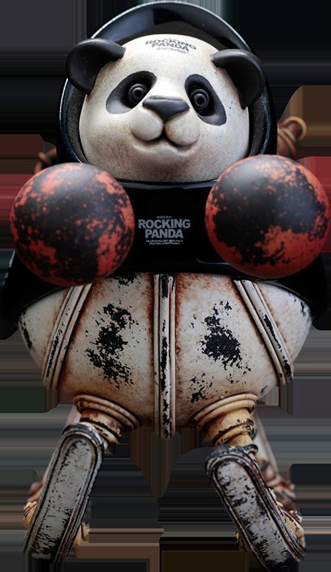 Manas SUM Rocking Panda (Small) Statue
