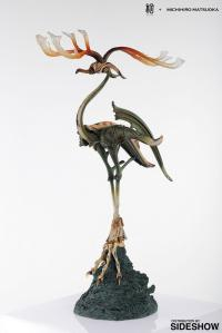 Gallery Image of Bronze Crane with Antlers Statue