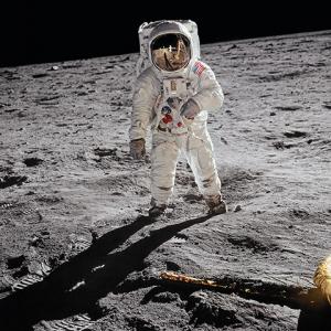Buzz Aldrin. Apollo 11. 'A Man on the Moon' Art Print
