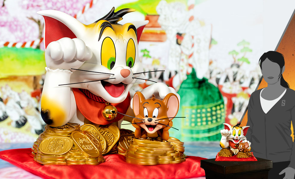 Gallery Feature Image of Tom and Jerry (Maneki-Neko Version) Bust - Click to open image gallery