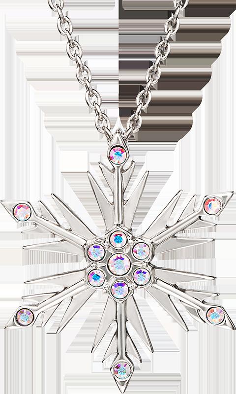 RockLove Disney's Frozen 2 Crystal Snowflake Pendant Jewelry