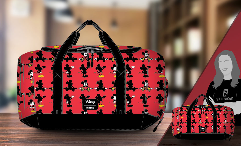 Gallery Feature Image of Mickey Parts AOP Duffle Bag Apparel - Click to open image gallery
