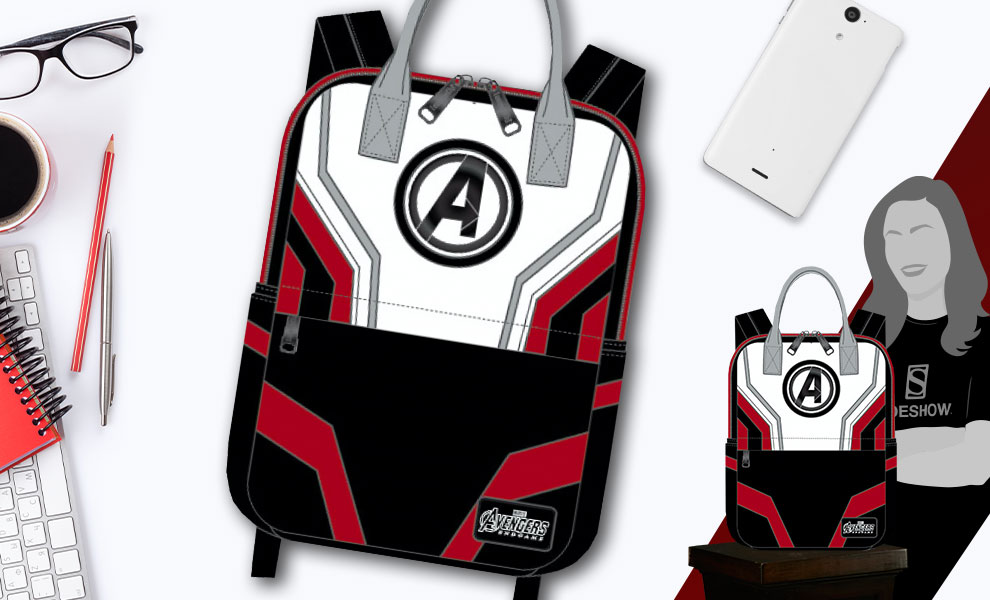 Gallery Feature Image of Avengers Endgame Suit Square Backpack Apparel - Click to open image gallery