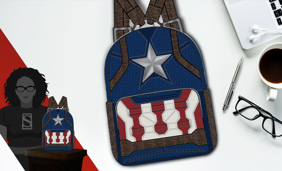 Gallery Feature Image of Captain America Endgame Hero Mini Backpack Apparel - Click to open image gallery