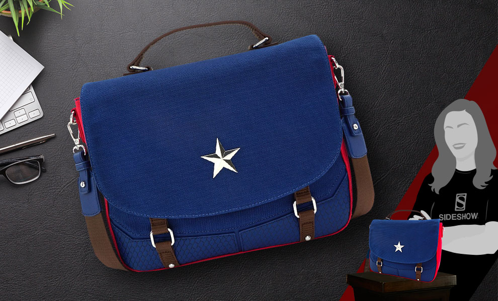 Gallery Feature Image of Captain America Endgame Hero Messenger Bag Apparel - Click to open image gallery