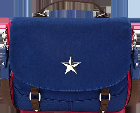 Loungefly Captain America Endgame Hero Messenger Bag Apparel