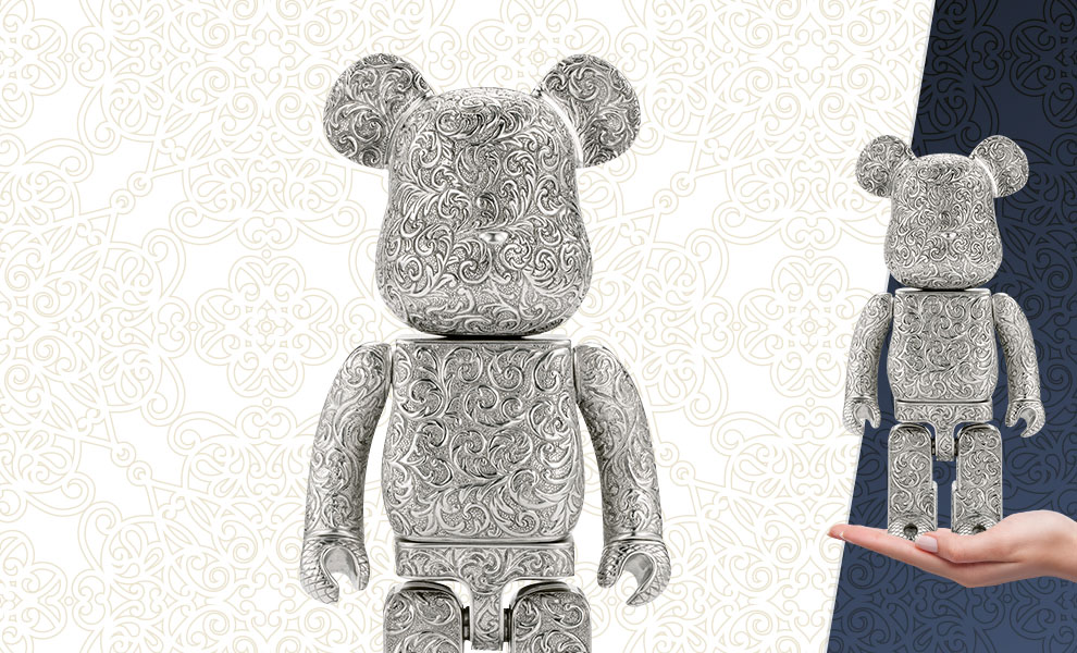 Gallery Feature Image of Be@rbrick Royal Selangor Arabesque Light 400% Figure - Click to open image gallery