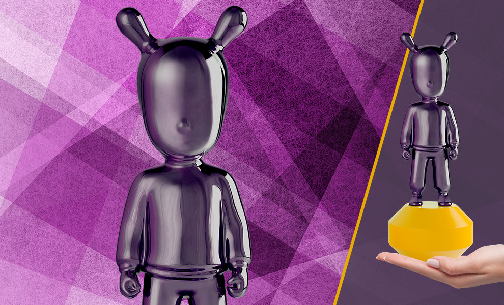 Gallery Feature Image of The Guest Little Purple on Yellow Figurine - Click to open image gallery